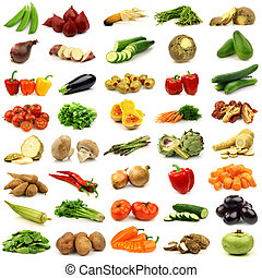 fresh and colorful vegetables - collection of fresh and...