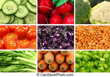 colorful fresh and dried vegetables - assorted colorful...