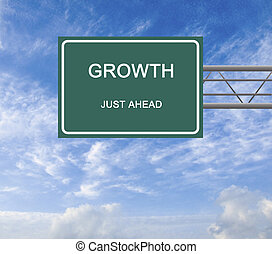 Road sign to growth