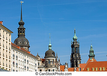 Historic skyline of Dresden - The historic skyline of...