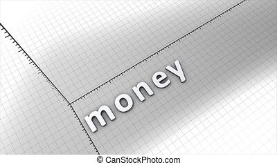 Growing money chart graphic animation.