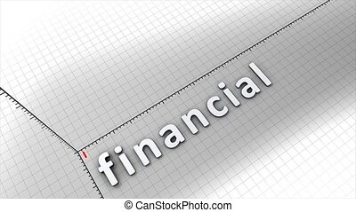 Growing financial chart animation.