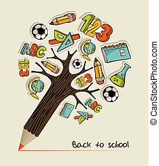 Back to School pencil tree - Pencil tree shaped made with...