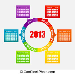 Calendar 2013 Part 2 Vector Illustration EPS 10