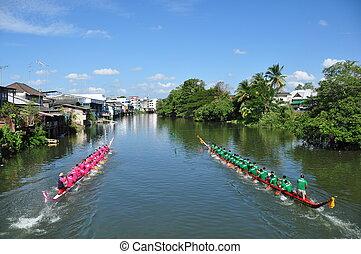 Long-boat racing, waterway heritage