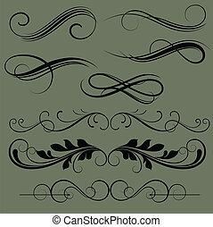Vintage Divider Vectors - Creative Abstract Conceptual...