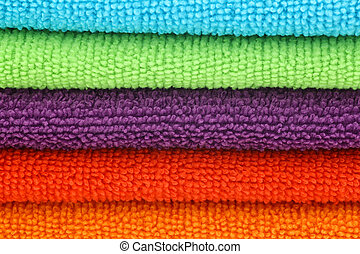 colorful microfiber cleaning cloths - stacked colorful...