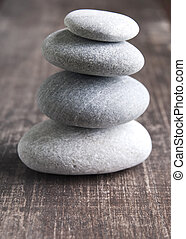 quattro,  zen, pila, pietre