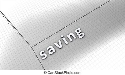 Growing saving chart graphic animation.