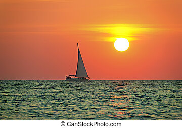 boat trip at sunset - image boat trip at sunset