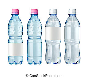 water bottles with label - water bottles with blank label...