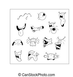 Cartoon Mouth Vector Expressions