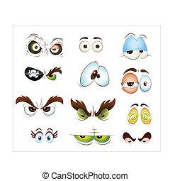 Cartoon Eyes Vectors - Creative Abstract Conceptual Design...