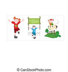 Children Cartoon Vectors