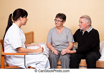 care of a patient - support to family members of a patient