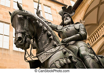 Count Eberhard of Stuttgart - Sculpture of count Eberhard...