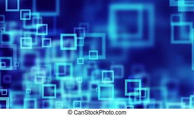 blue squares abstract loopable back