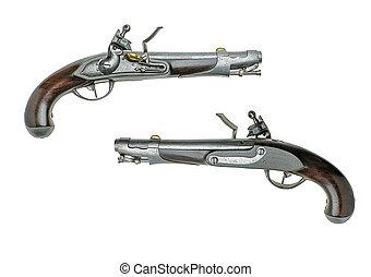 Bavarian antique flintlock pistol