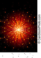 Star Burst - Abstract Background Illustration, Vector