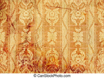 Vintage background - old wallpaper Victorian style, design.