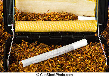 tobacco and cigarette roller for making hand rolled...