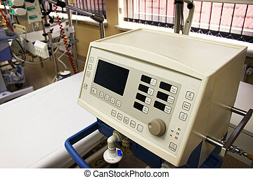 Medical equipment - Piece of medical equipment near empty...