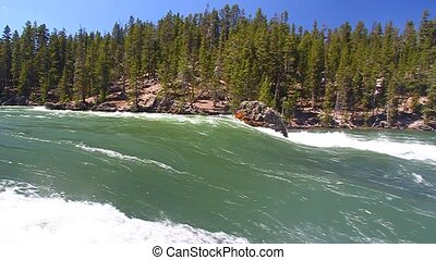 Yellowstone River Rapids - Rapids of the Yellowstone River...