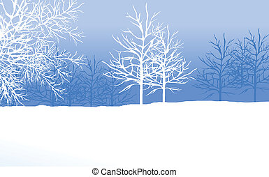 snowy winter landscape with tree - this illustration is the...