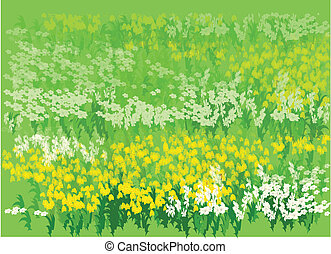 Flower bed - This illustration is a common natural landscape...
