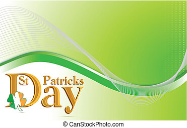 Saint Patricks day green background