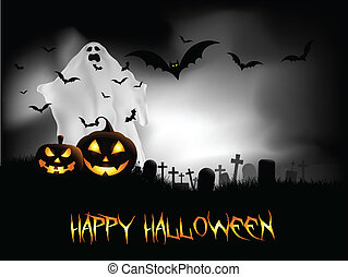 Halloween night background - Spooky Halloween background...