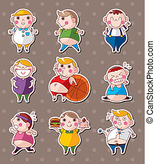 fat boy stickers