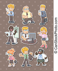 office worker,businessman stickers
