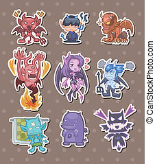 ghost and devil stickers