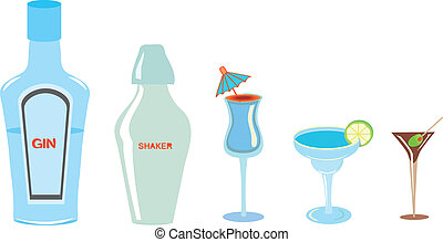 Different Kinds of Drinks - Several types of alcoholic...