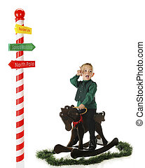 Hey We Gotta Go This Way - An upset preschooler riding a...