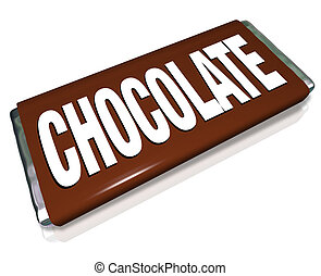 Chocolate Candy Bar Brown Wrapper Junk Food - A chocolate...