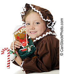 Gingerbread Girl Impersonators - An adorable elementary...