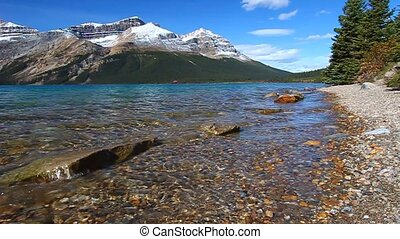 Bow Lake Banff National Park - Scenic view of Bow Lake seen...