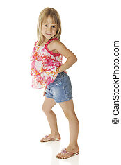 Gettin Sassy - An adorable elementary girl getting sassy in...