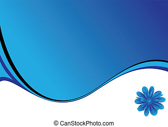 blue swish - abstract blue and white background with a...
