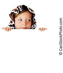 Peek-a-Boo Gingerbread Girl - A pretty elementary...