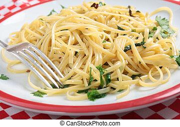 Chili and garlic pasta