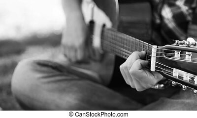 guitar - young man play guitar