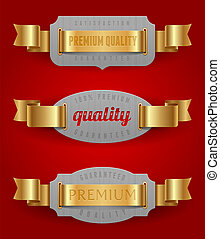 Decorative emblems of quality