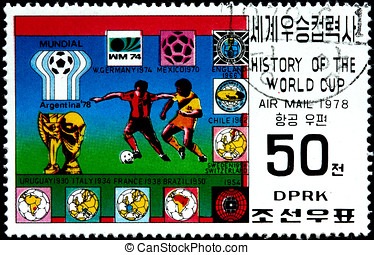 Argentina 1978 - KOREA - CIRCA 1978: A Postage Stamp Shows...