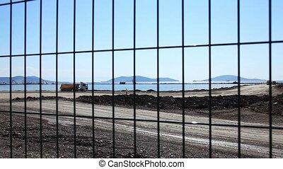 construction area time lapse
