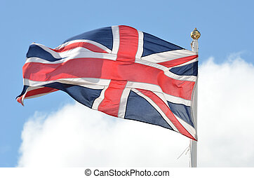 Union Flag flying in breeze