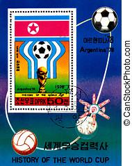 Argentina 1978 - KOREA - CIRCA 1978: A Postage Stamp Shows...