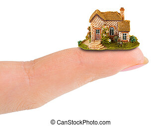Finger and house